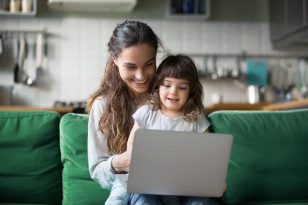 Happy laughing mother and daughter using laptop picture id1063760170?b=1&k=6&m=1063760170&s=612x612&w=0&h=d reztty6ejqxjfcpdfvd35dn0u5gydjyxv6dqnseym=