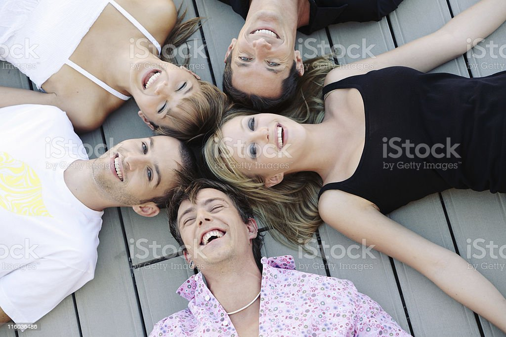 Happy Laughing Young People royalty-free stock photo