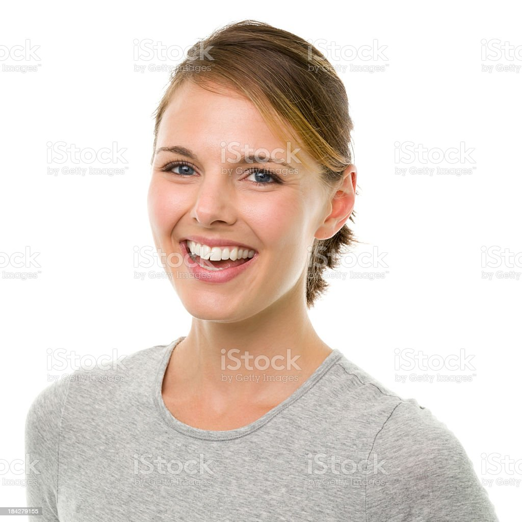 Happy Laughing Young Woman stock photo