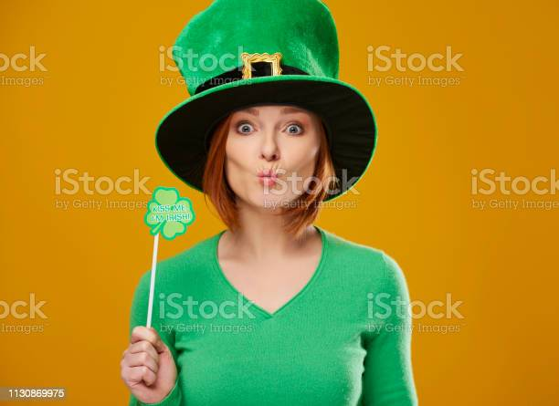 Happy leprechaun with green hat blowing a kiss picture id1130869975?b=1&k=6&m=1130869975&s=612x612&h=t6sq5dd miz e0b4 sqlrh3ndokw56ck6lqbbmqqrqm=