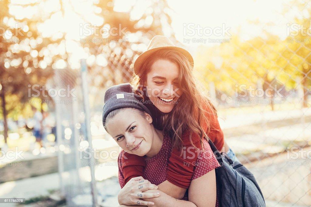Heureux couple lesbien - Photo