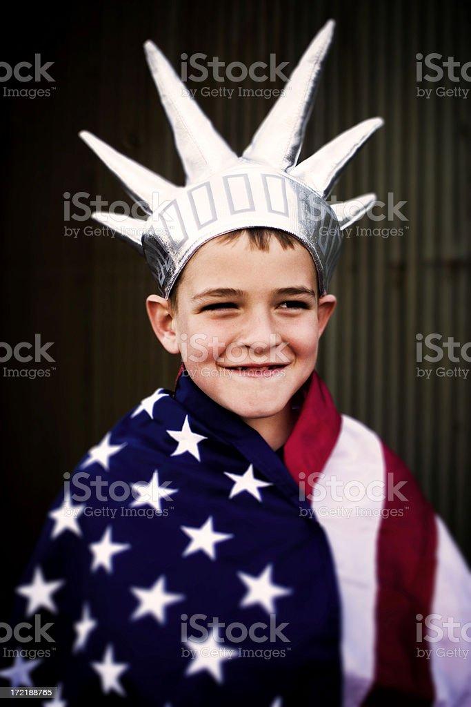 Happy Liberty royalty-free stock photo