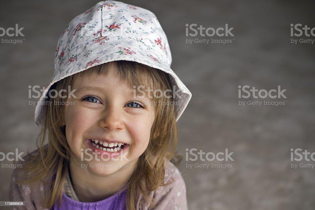 Happy litle girl stock photo