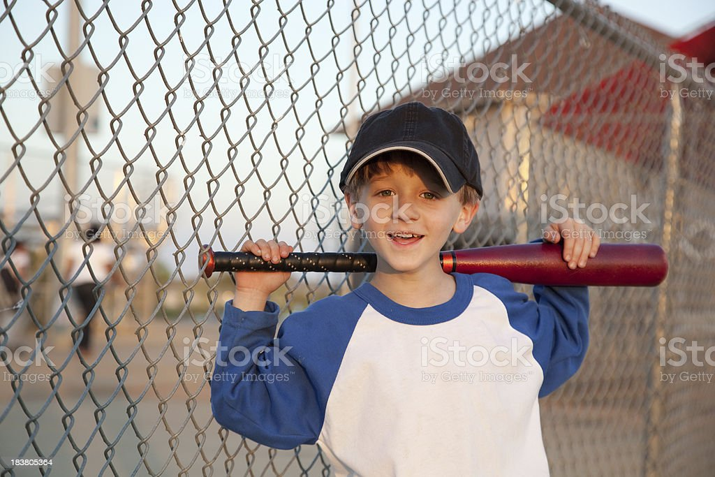 Happy Little Baseball Player royalty-free stock photo