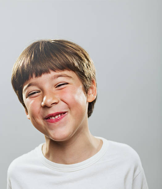 Happy little boy Portrait of a very happy child. 6 7 years stock pictures, royalty-free photos & images