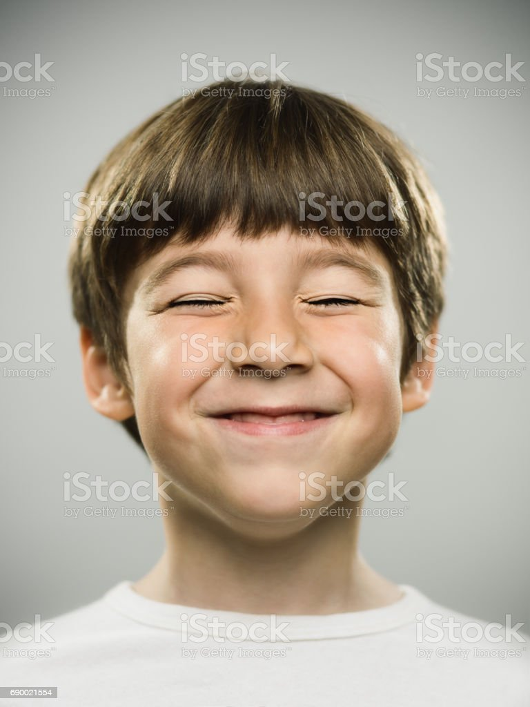 Happy little boy smiling stock photo