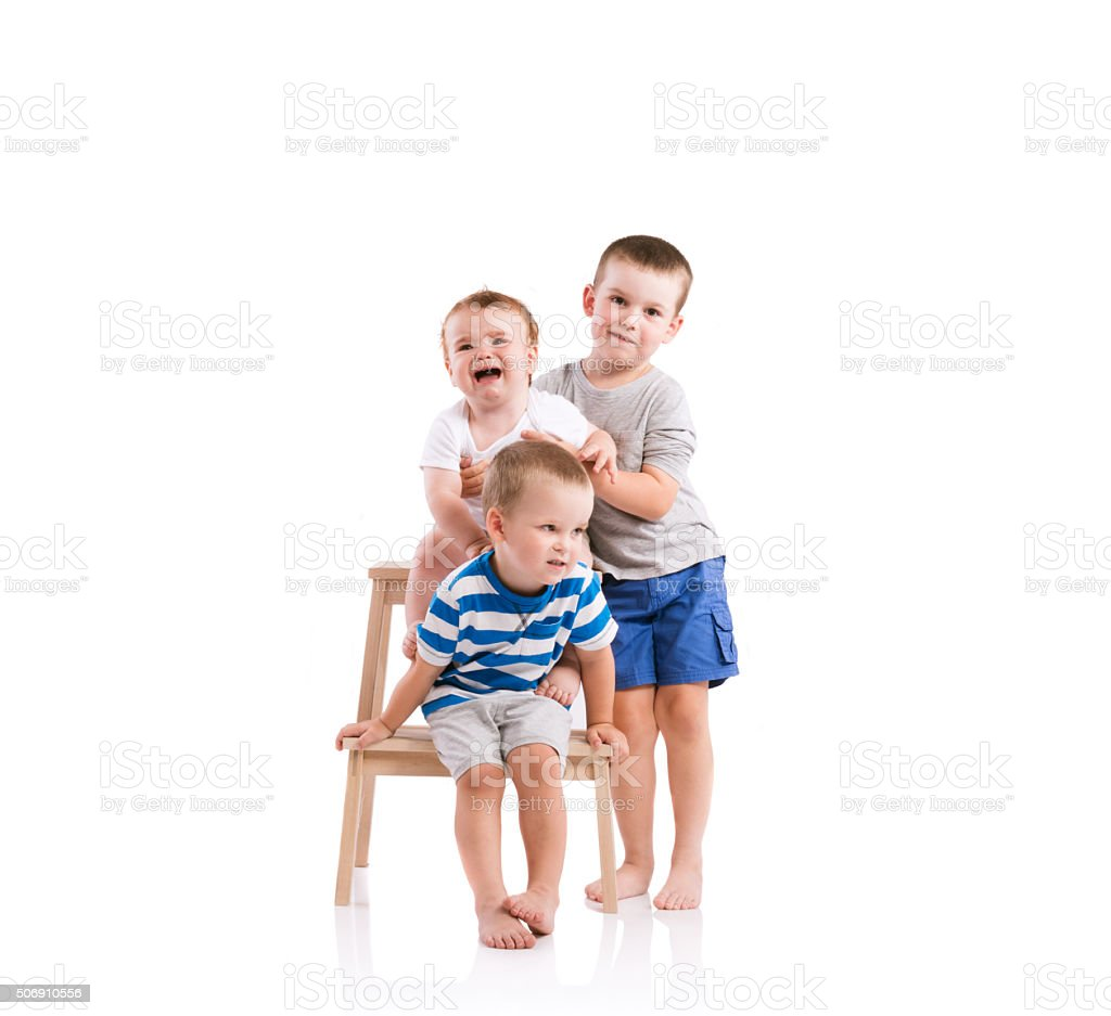 Happy little boys royalty-free stock photo