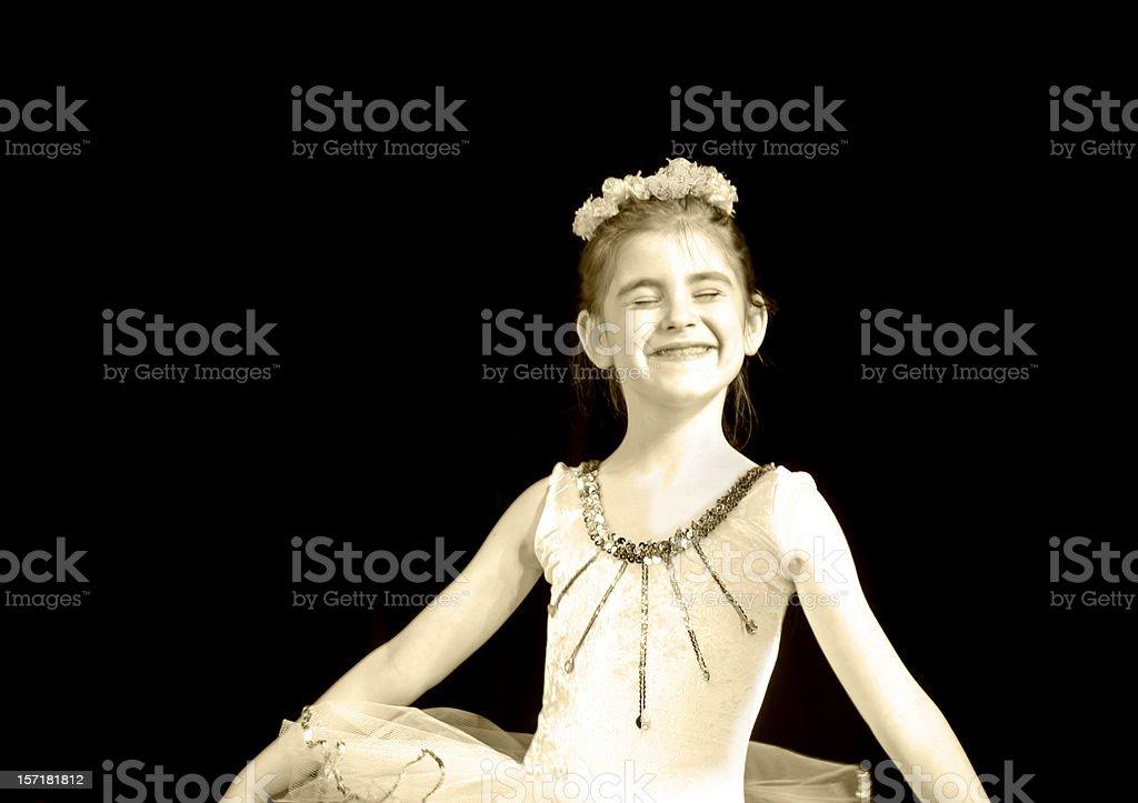 Happy little dancer royalty-free stock photo