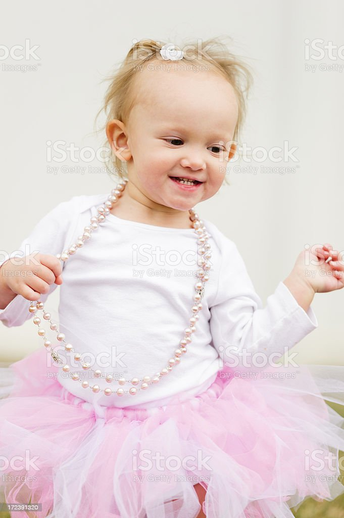 Happy Little Dancing Girl royalty-free stock photo