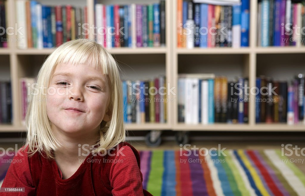 Happy little face royalty-free stock photo