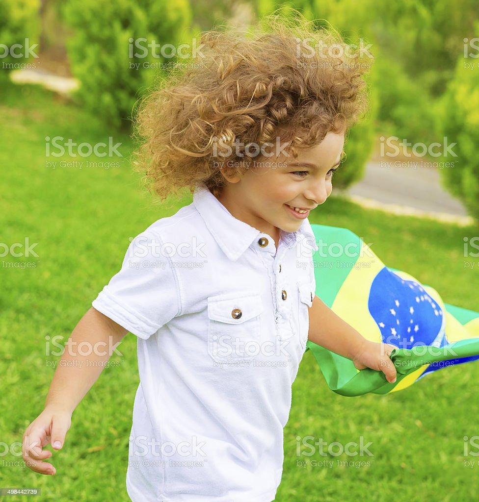 Happy little ventilador de fútbol - foto de stock