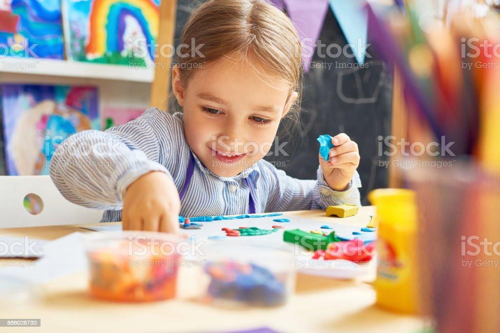 Happy Little Girl in Development School royalty-free stock photo
