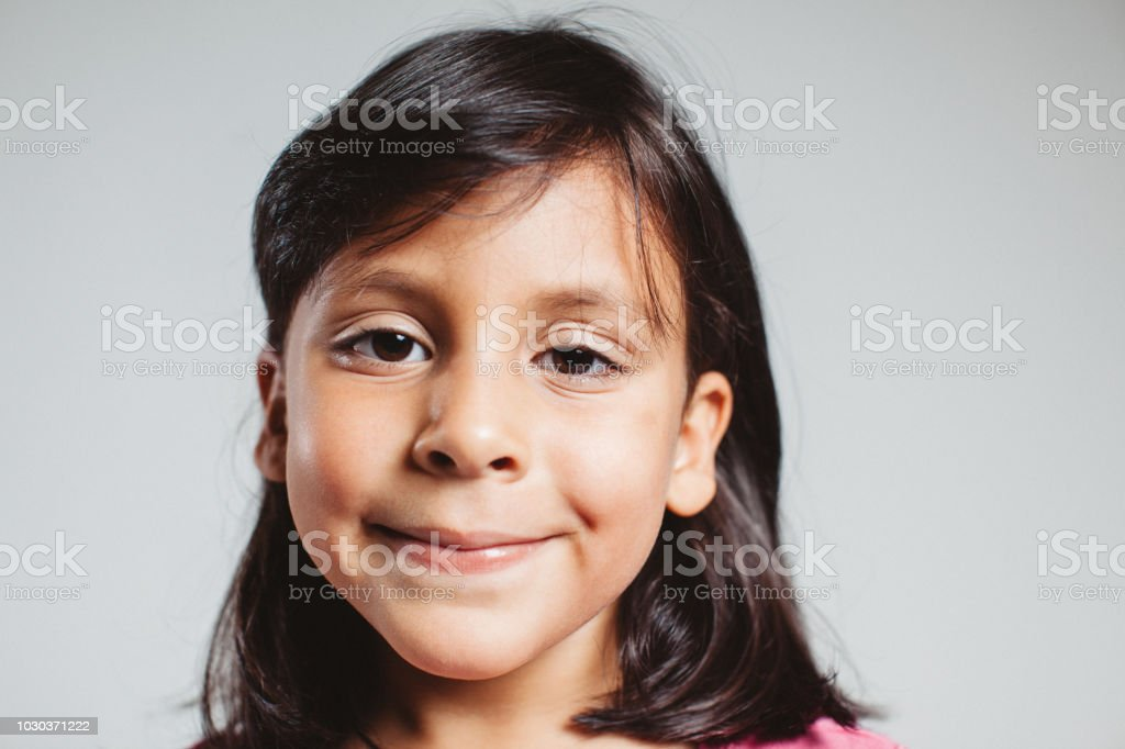 happy little girl stock photo