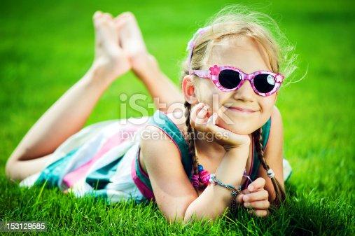 istock Happy little girl 153129585