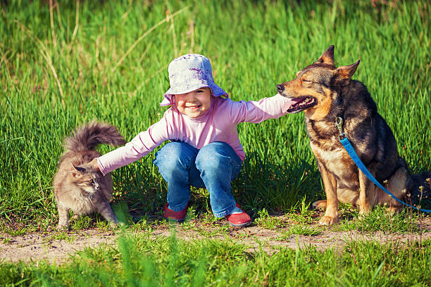 Happy little girl playing with dog and cat outdoors picture id471819964?b=1&k=6&m=471819964&s=612x612&w=0&h=koirggcaafgs5tsjiq0dog46gbugj eqfzc9i0rj37g=