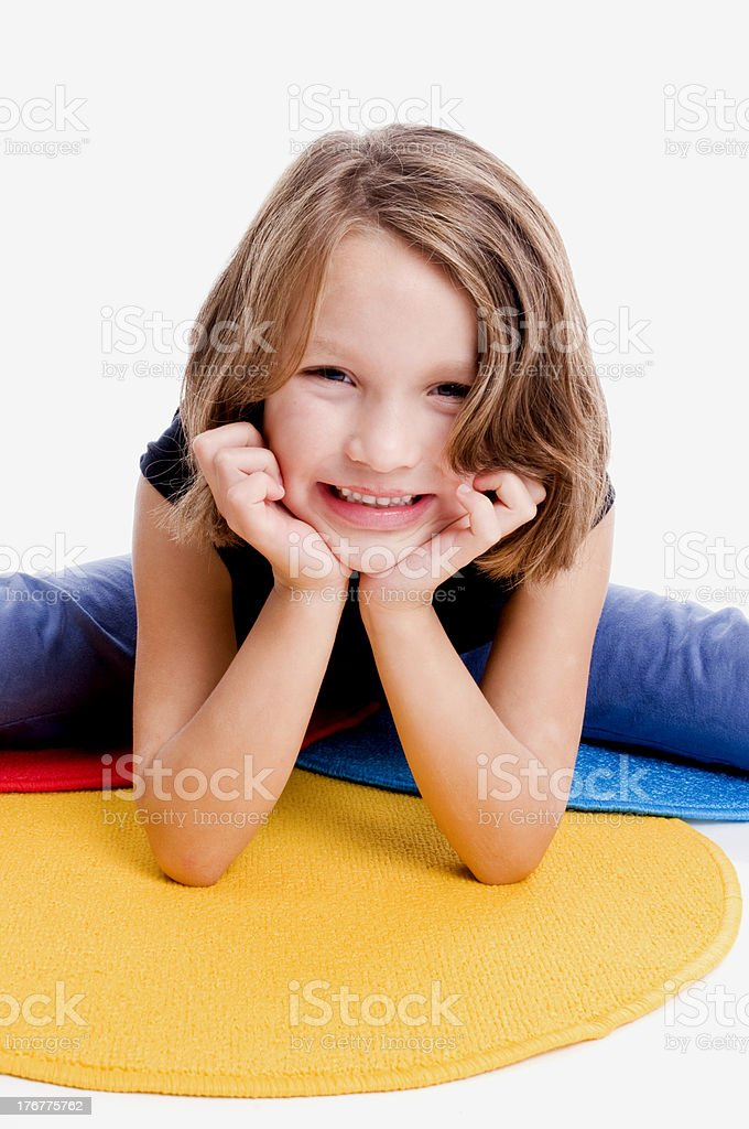 Happy Little Girl, School Age royalty-free stock photo