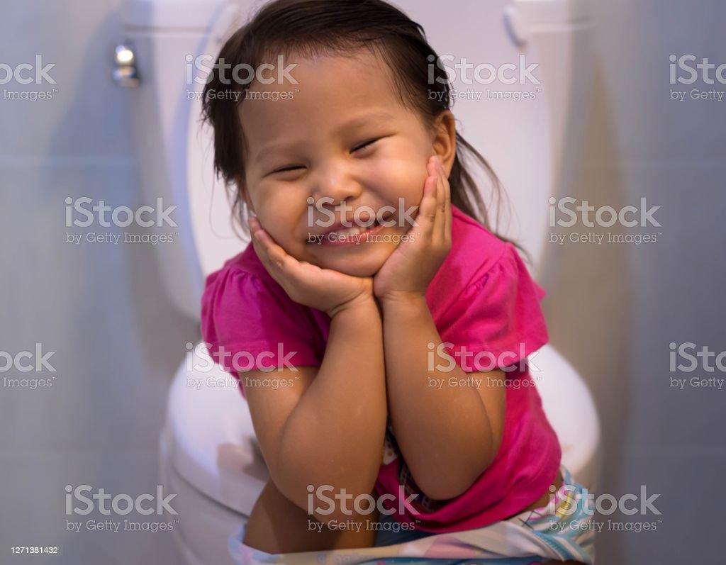 549 Little Girl Sitting Toilet Photos - Free & Royalty