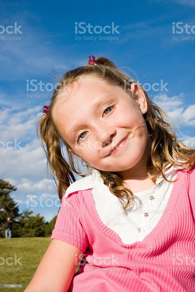 Happy Little Girl Smiling royalty-free stock photo