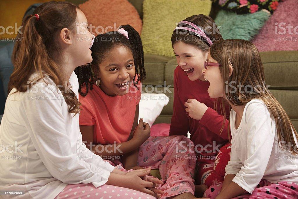 Happy Little Girls stock photo
