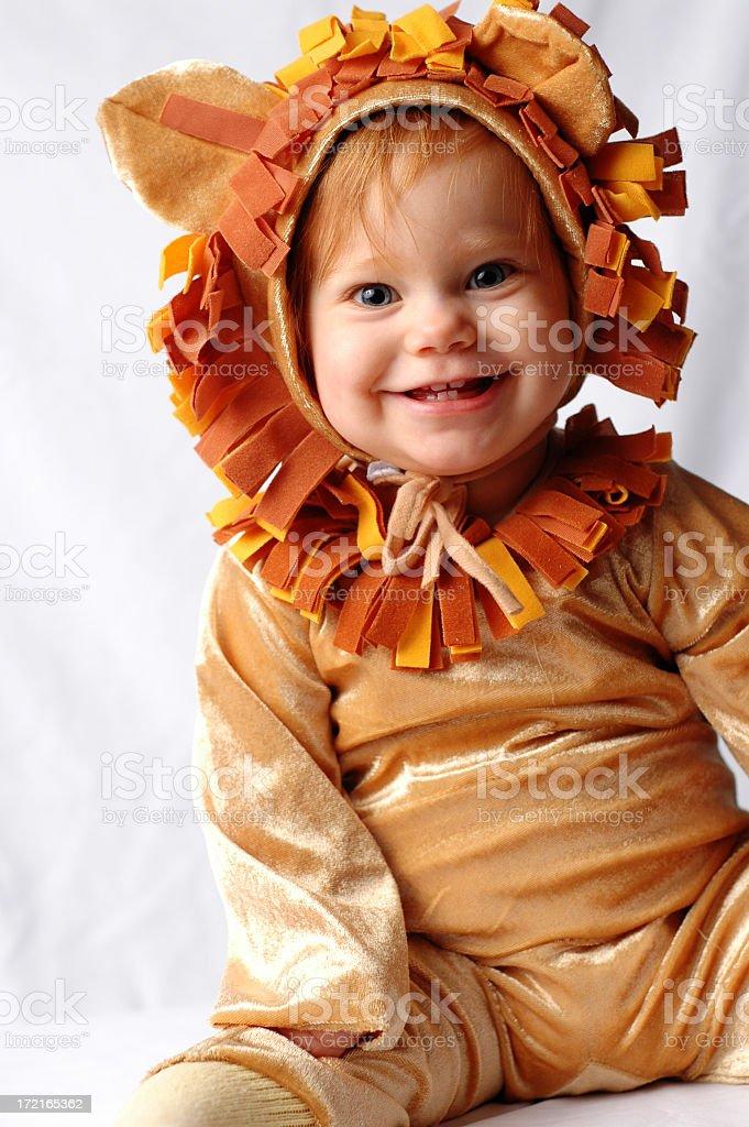 Happy Little Lion stock photo