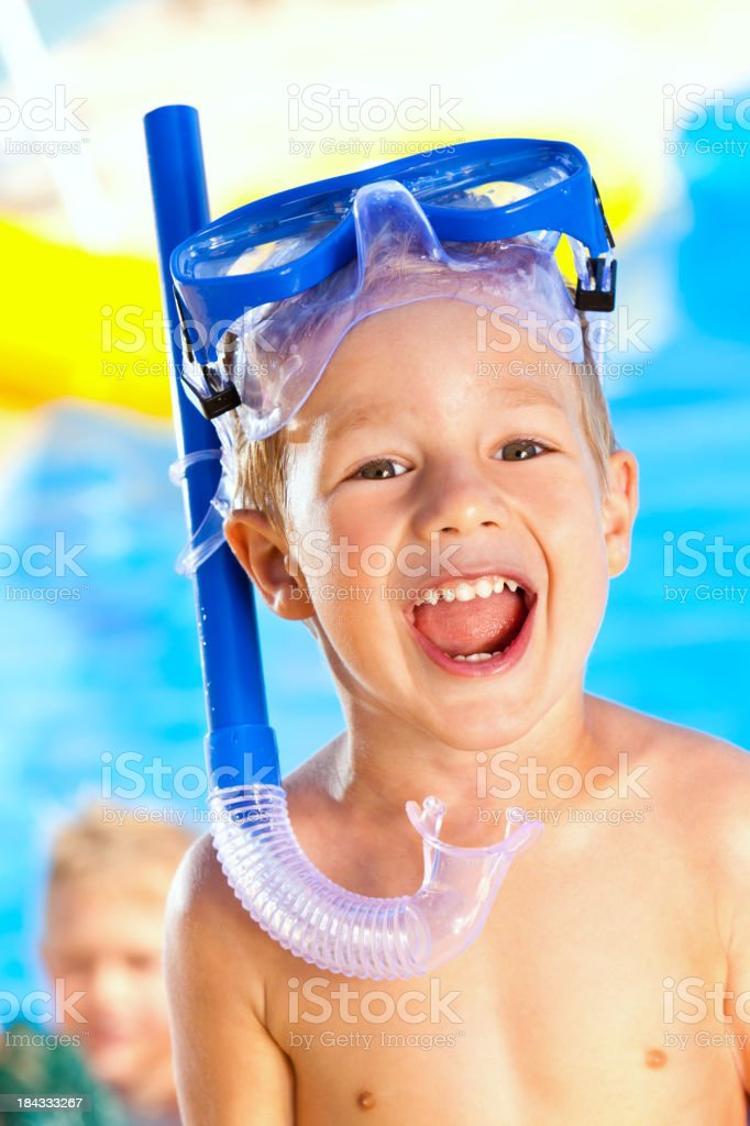 Happy Little Snorkeler royalty-free stock photo