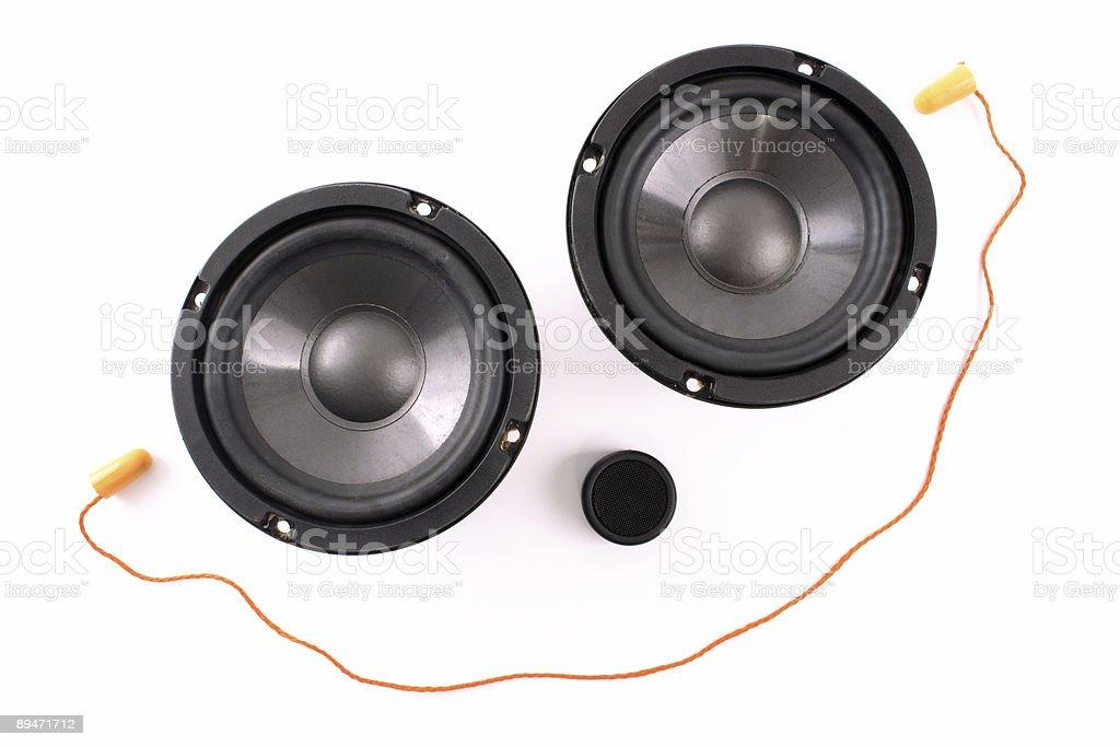 Happy loud sound stock photo