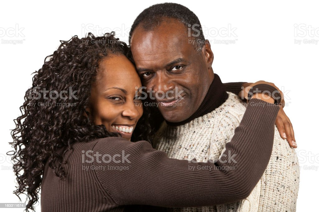 Happy Loving Black Couple royalty-free stock photo