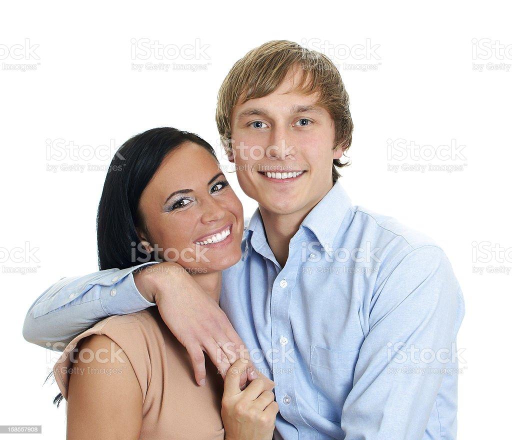 행복함 사랑하는 커플입니다. royalty-free 스톡 사진