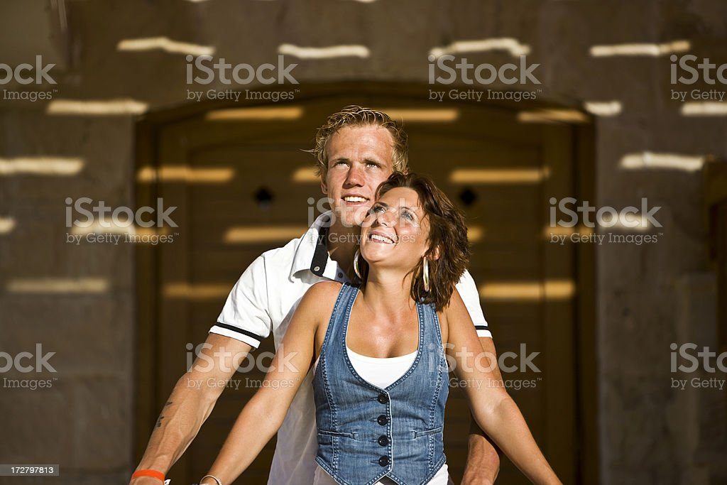 Happy loving couple royalty-free stock photo