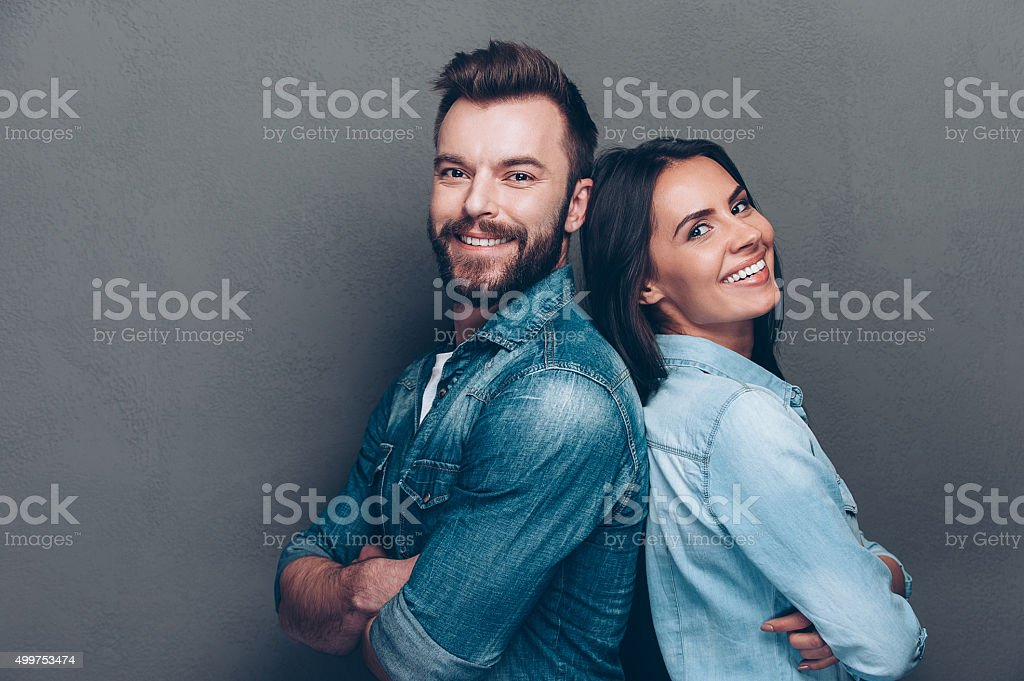 Happy loving couple. stock photo