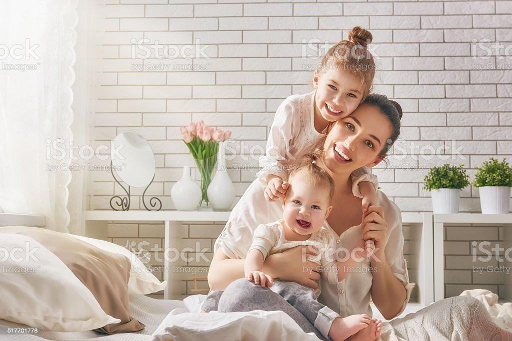 Glücklich liebevolle Familie. – Foto