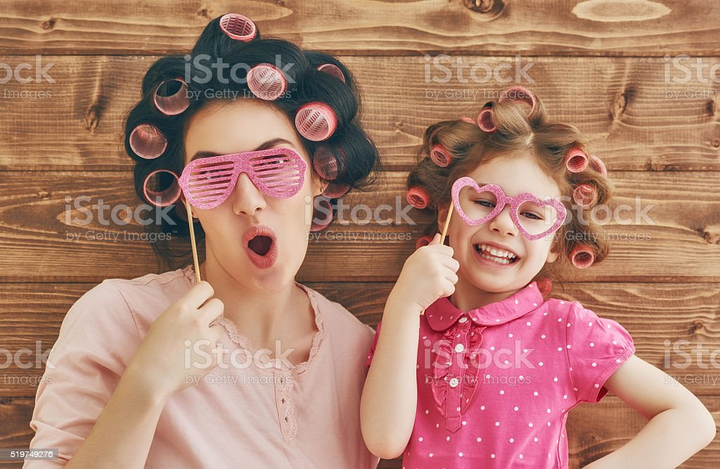Happy loving family stock photo