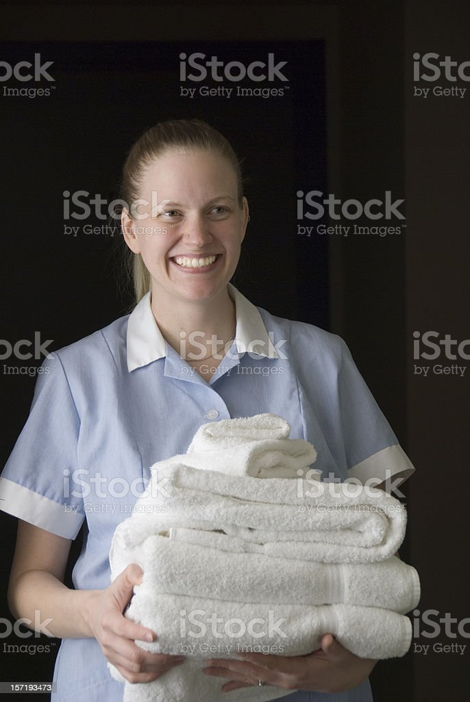 Happy Maid royalty-free stock photo