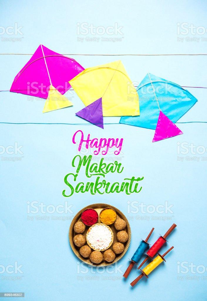 Happy makar sankranti festival greeting card stock photo more happy makar sankranti festival greeting card royalty free stock photo m4hsunfo