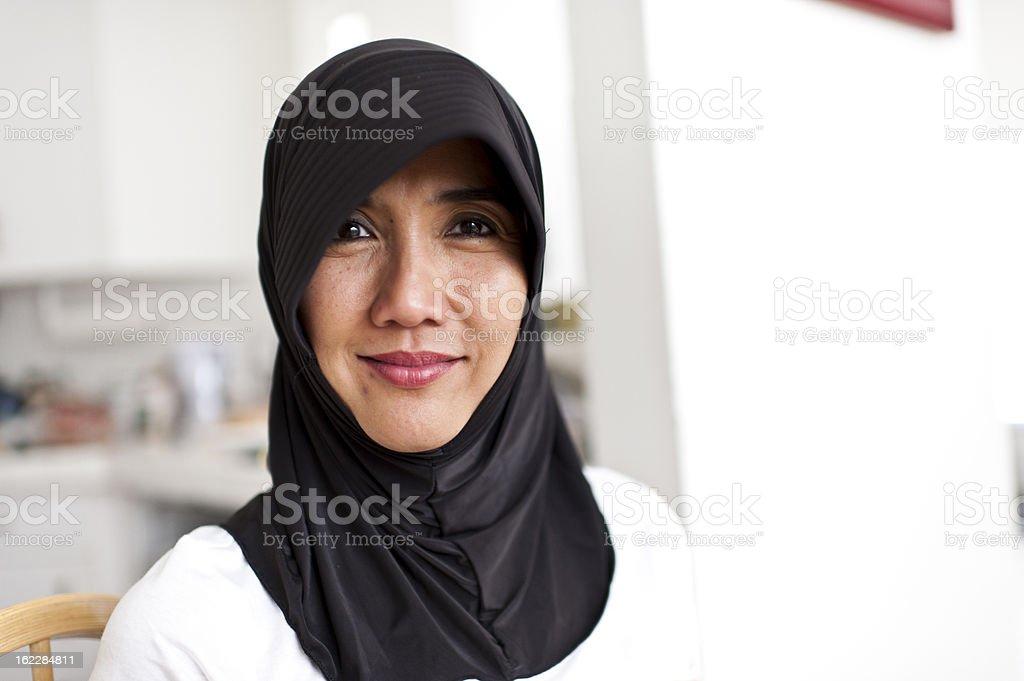 Happy Malaysian Housewife stock photo