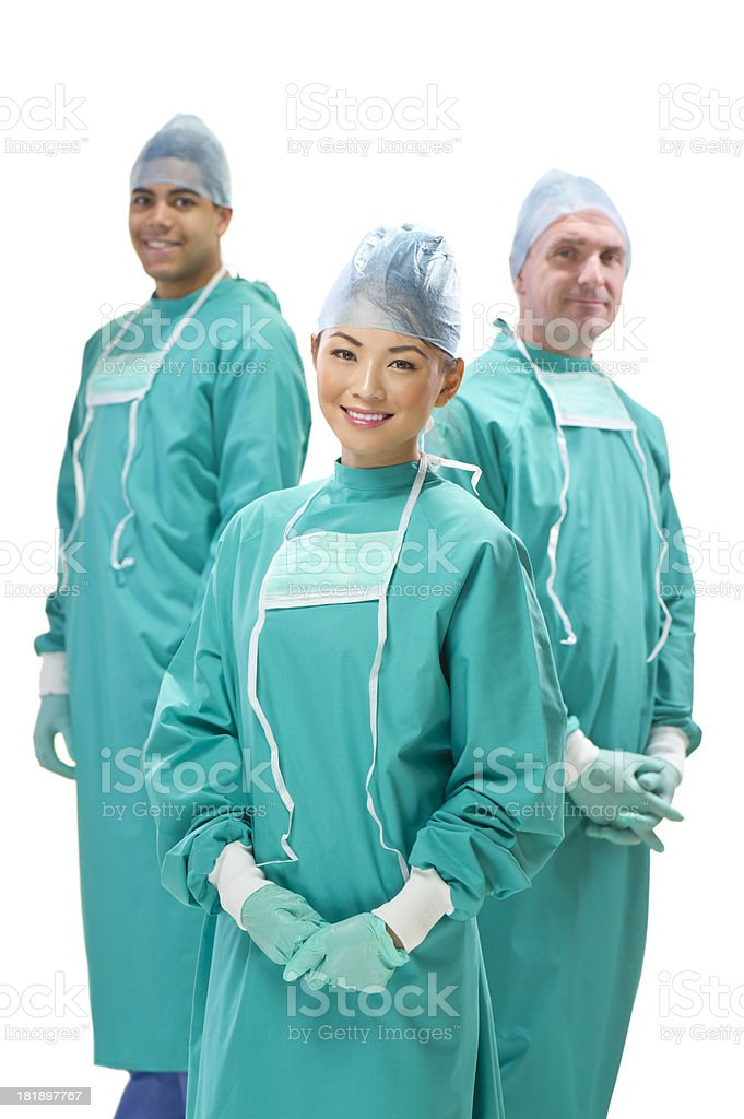happy male and female medical professionals royalty-free stock photo