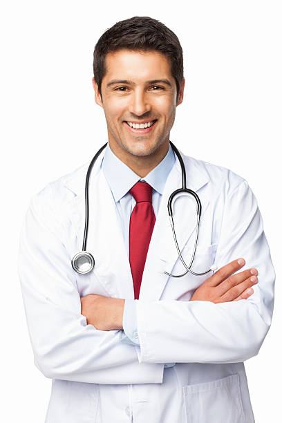 Happy Male Doctor - Isolated stock photo