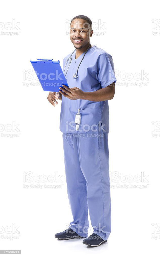 happy male doctor royalty-free stock photo