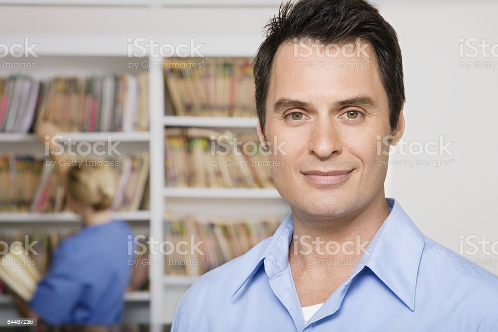 Happy Male Patient royalty-free stock photo