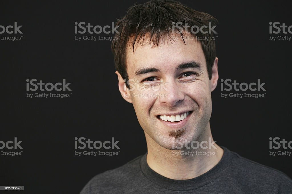 Happy male royalty-free stock photo