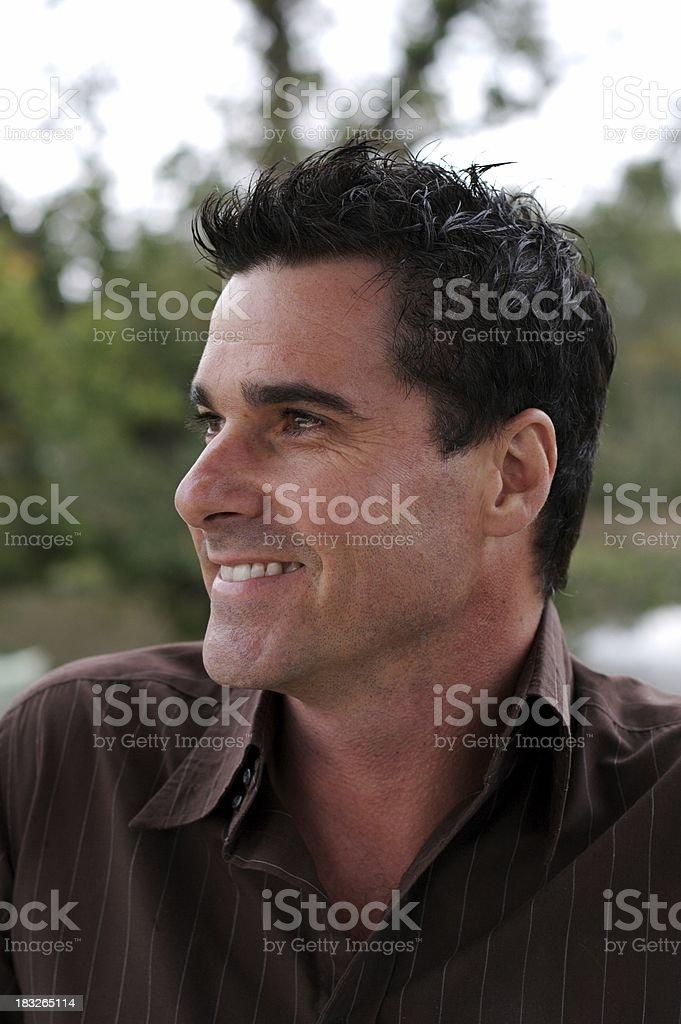 Happy male series stock photo