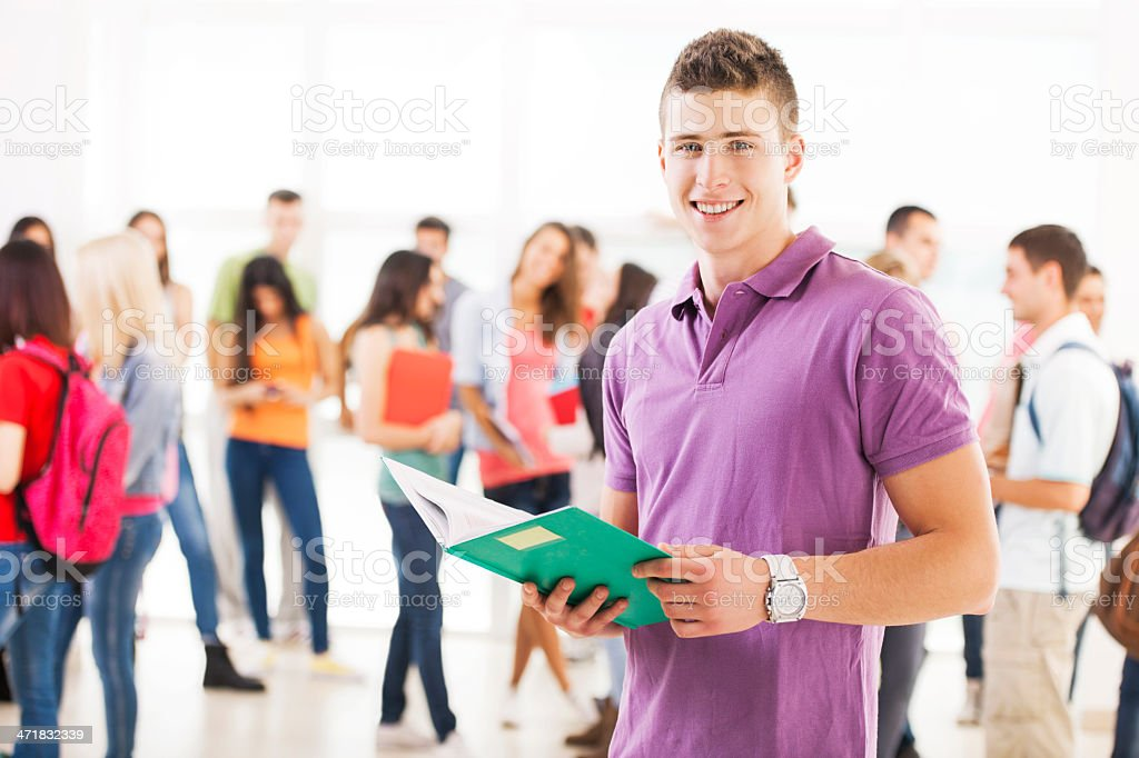 Happy male student. royalty-free stock photo