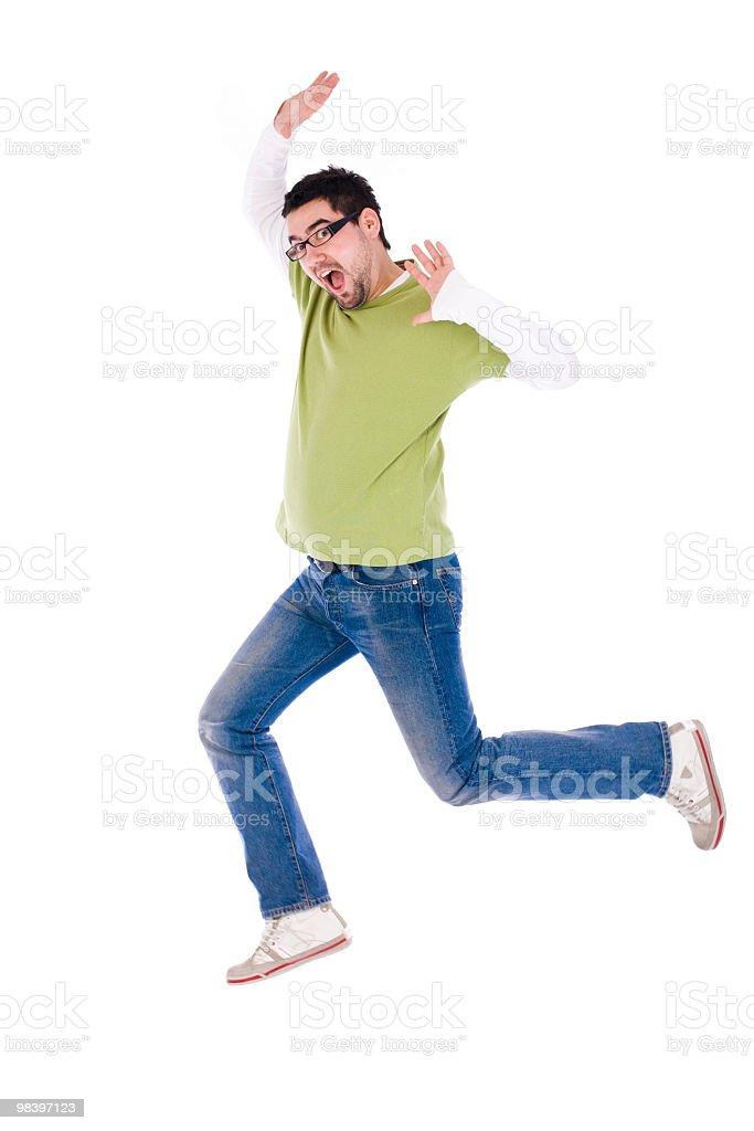 Felice uomo saltare foto stock royalty-free