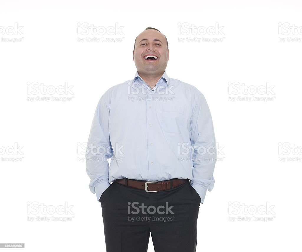 Happy Man Laughing royalty-free stock photo