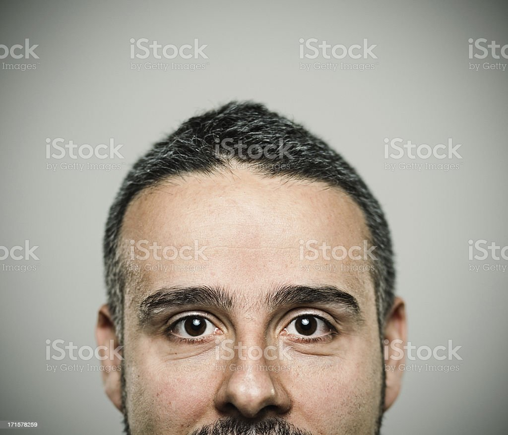 Happy man Happy young man with positive expression. Half face 30-39 Years Stock Photo