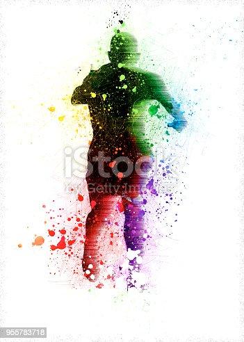 667381184 istock photo happy man running 955783718