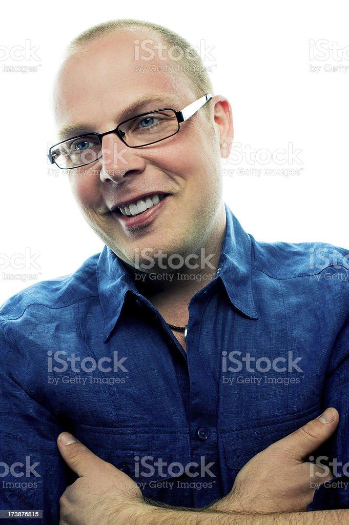 Happy man smiling royalty-free stock photo