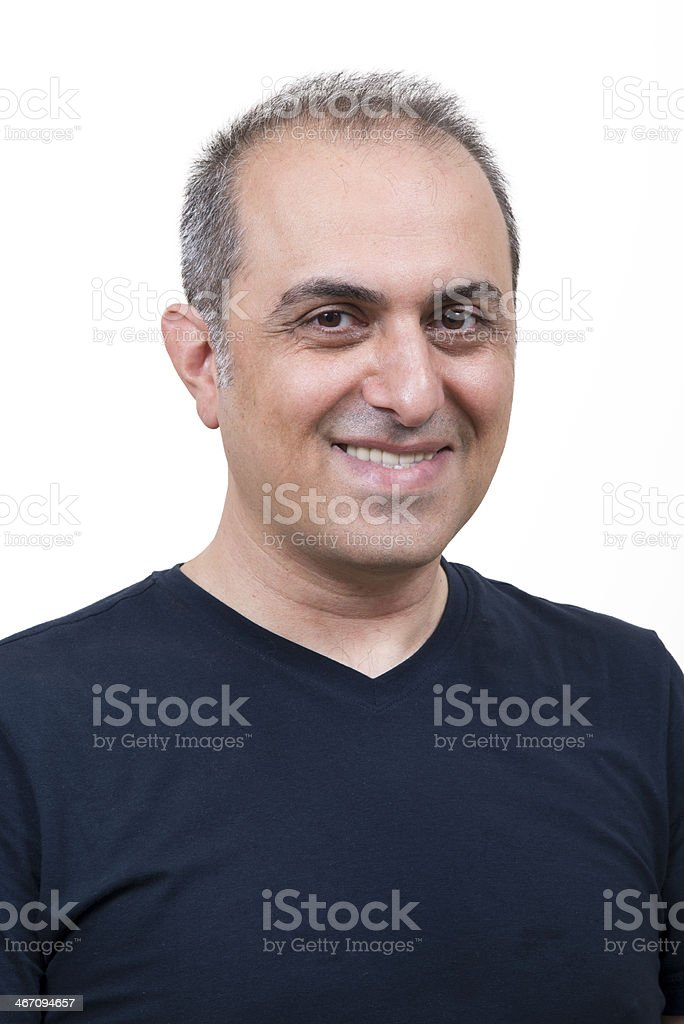 Happy man smiling stock photo