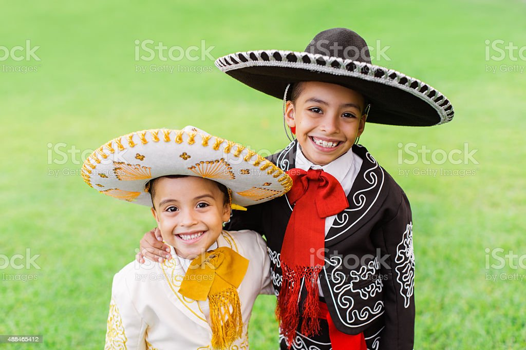 happy mariachis stock photo