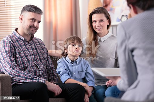 istock Happy marriage with son 950683748